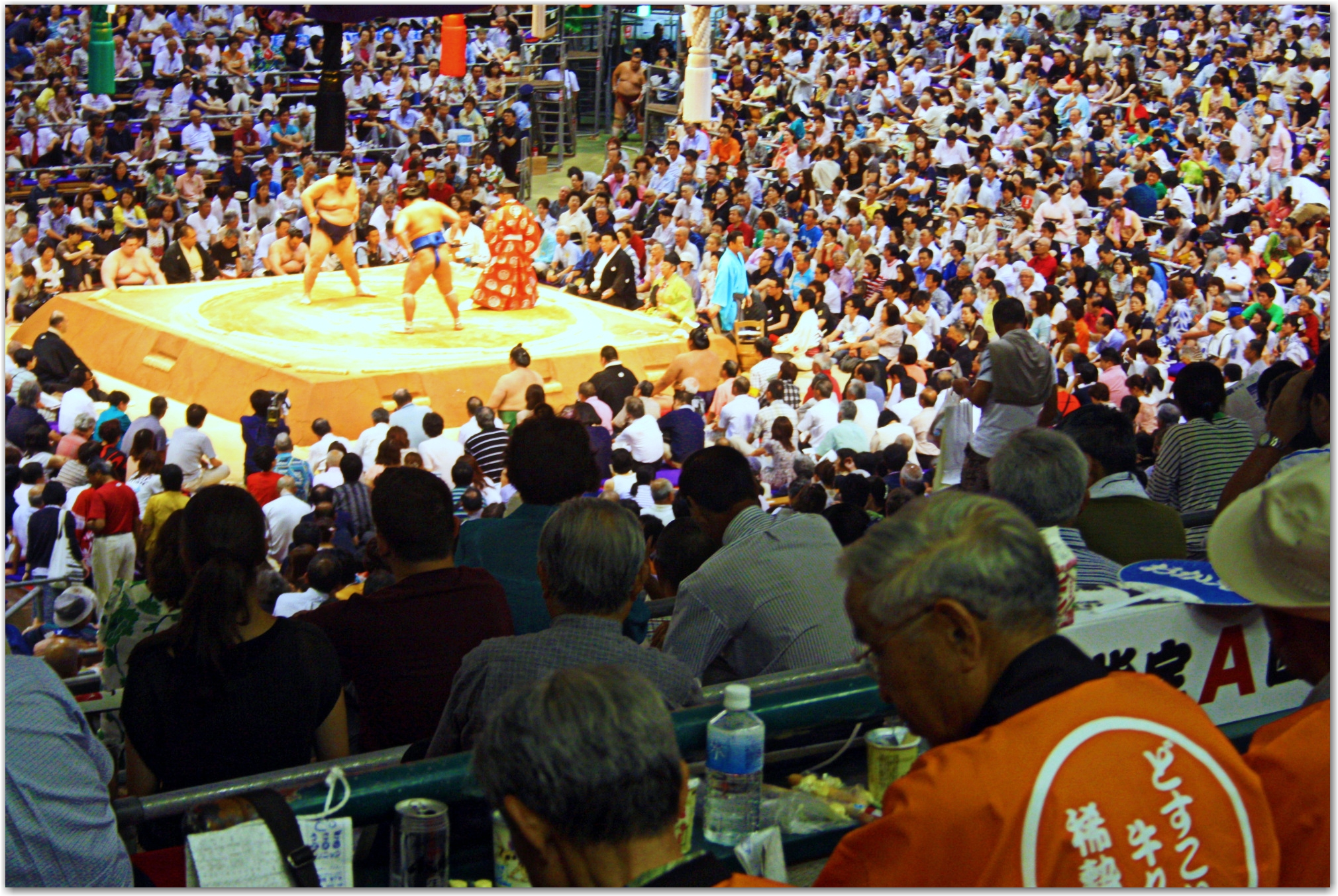crowd at the Grand Sumo Tournament Japan