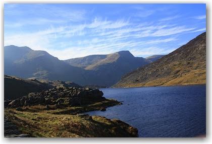 Climbing Mount Tryfan: the base of Mount Tryfan, North Wales