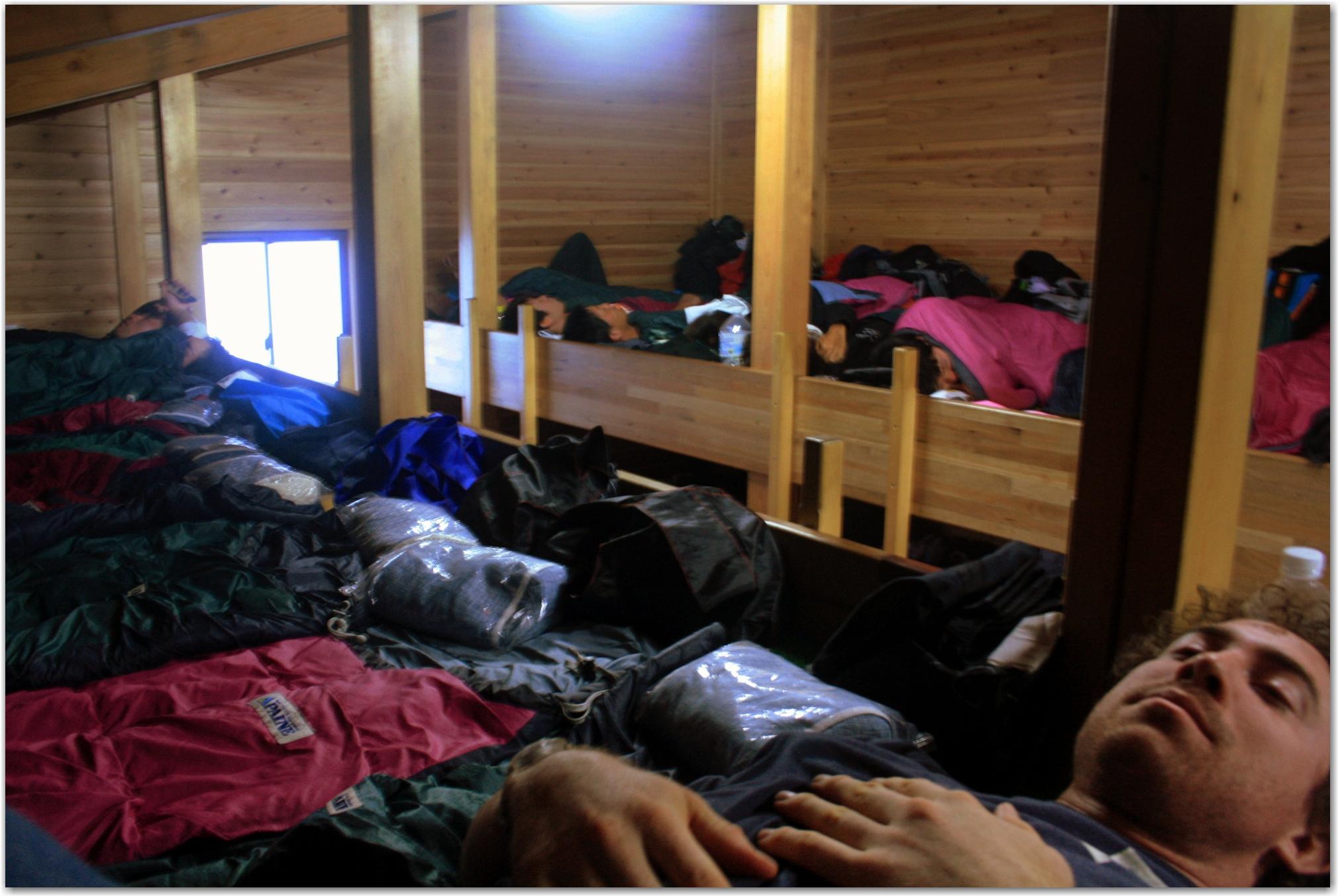 sleep on Mount Fuji