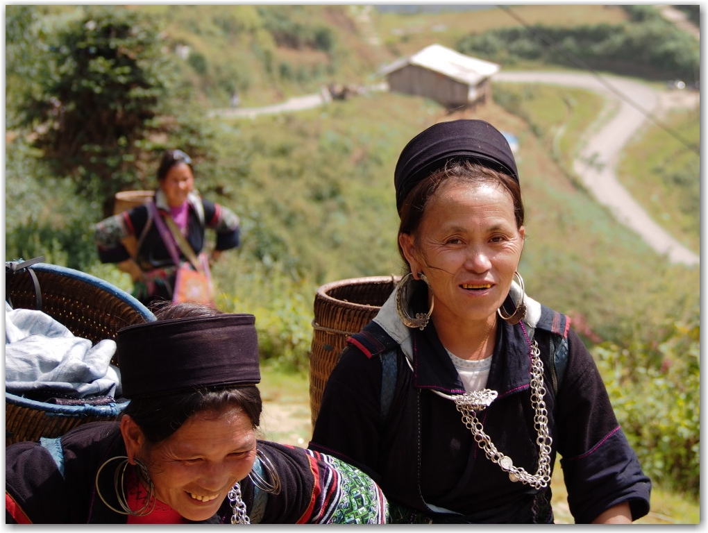 women in Sapa, Vietnam
