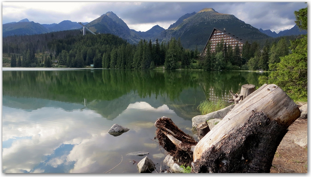 Štrbské Pleso tarn, glacier lake, Slovakia, Tatra Mountains