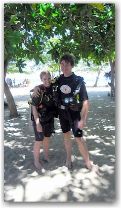 diving day before Koh Phangan Full Moon Party