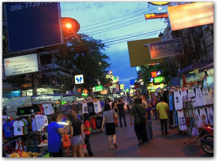 don't spend long on khao san road in bangkok
