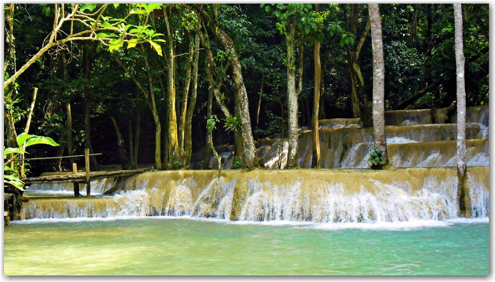 Tad Se Waterfall Laos