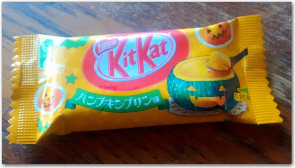 pumpkin pudding kit kat japan