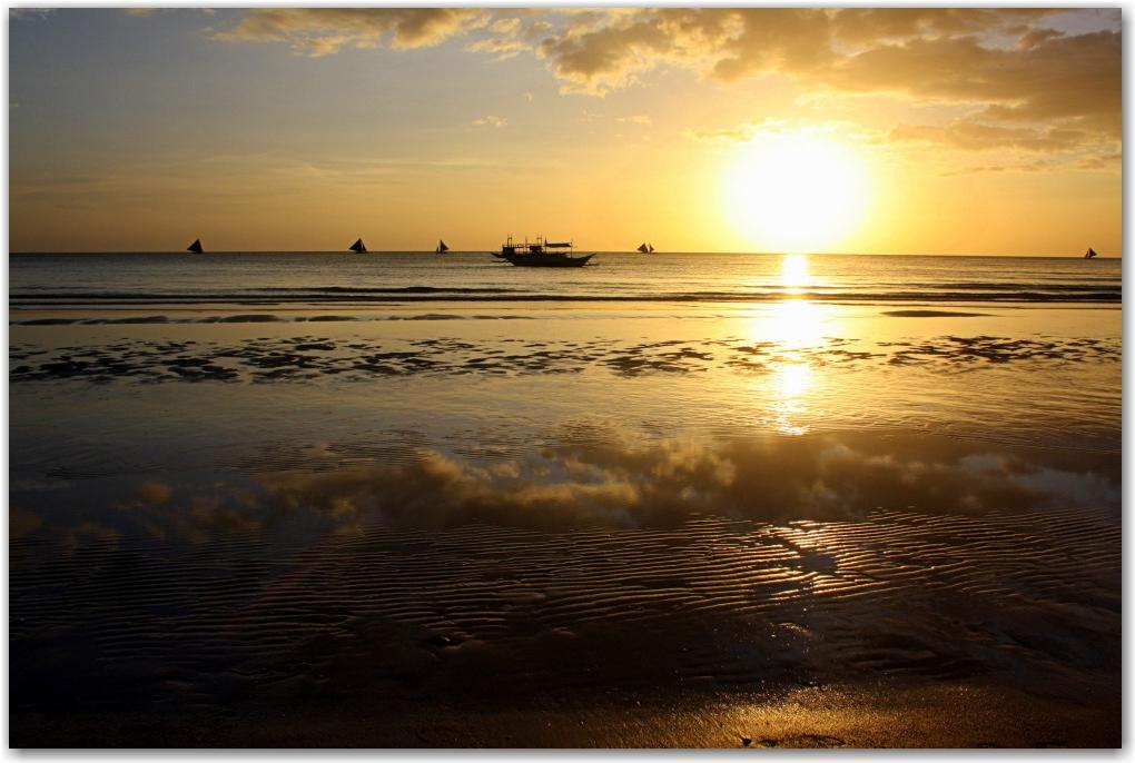 boracay sunset philippines