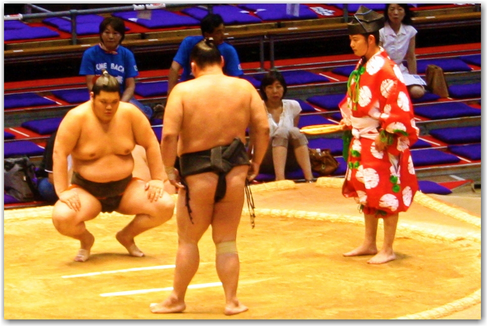 pre-match ritual Grand Sumo Tournament