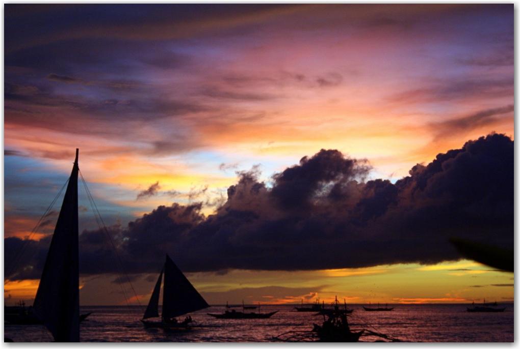 boracay sunsets philippines