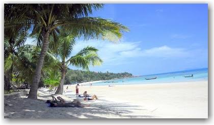 Haad Yao beach before the Koh Phangan Full Moon Party