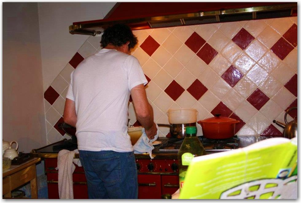 Workaway France kitchen