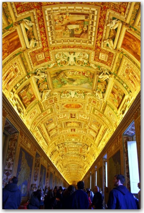 capture the colour yellow: vatican museum maps room, Italy