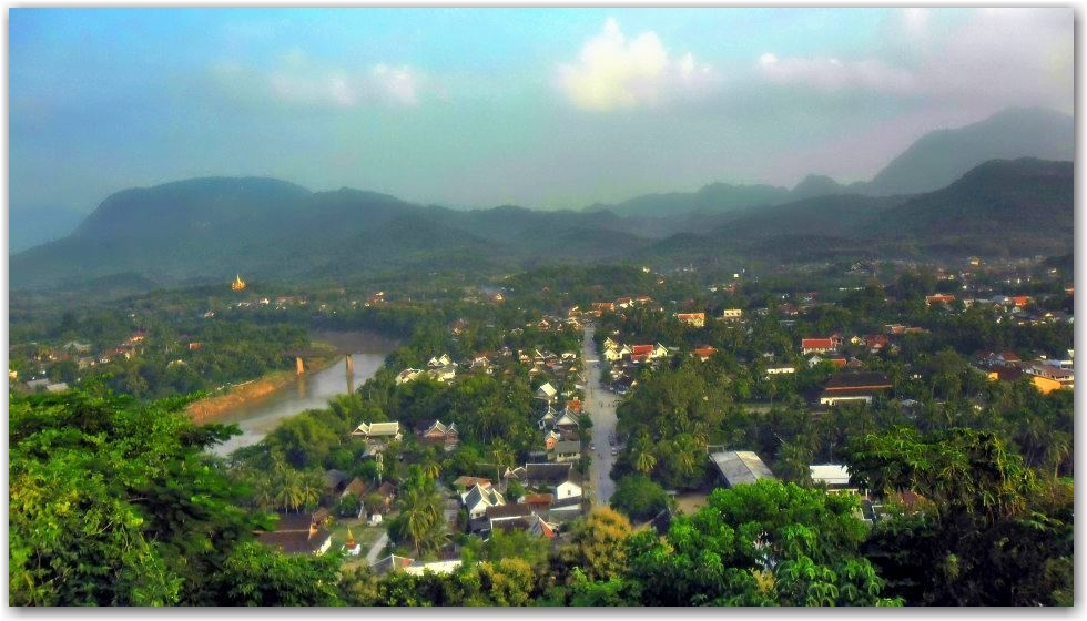 view from Phousi, Luang Prabang, Laos