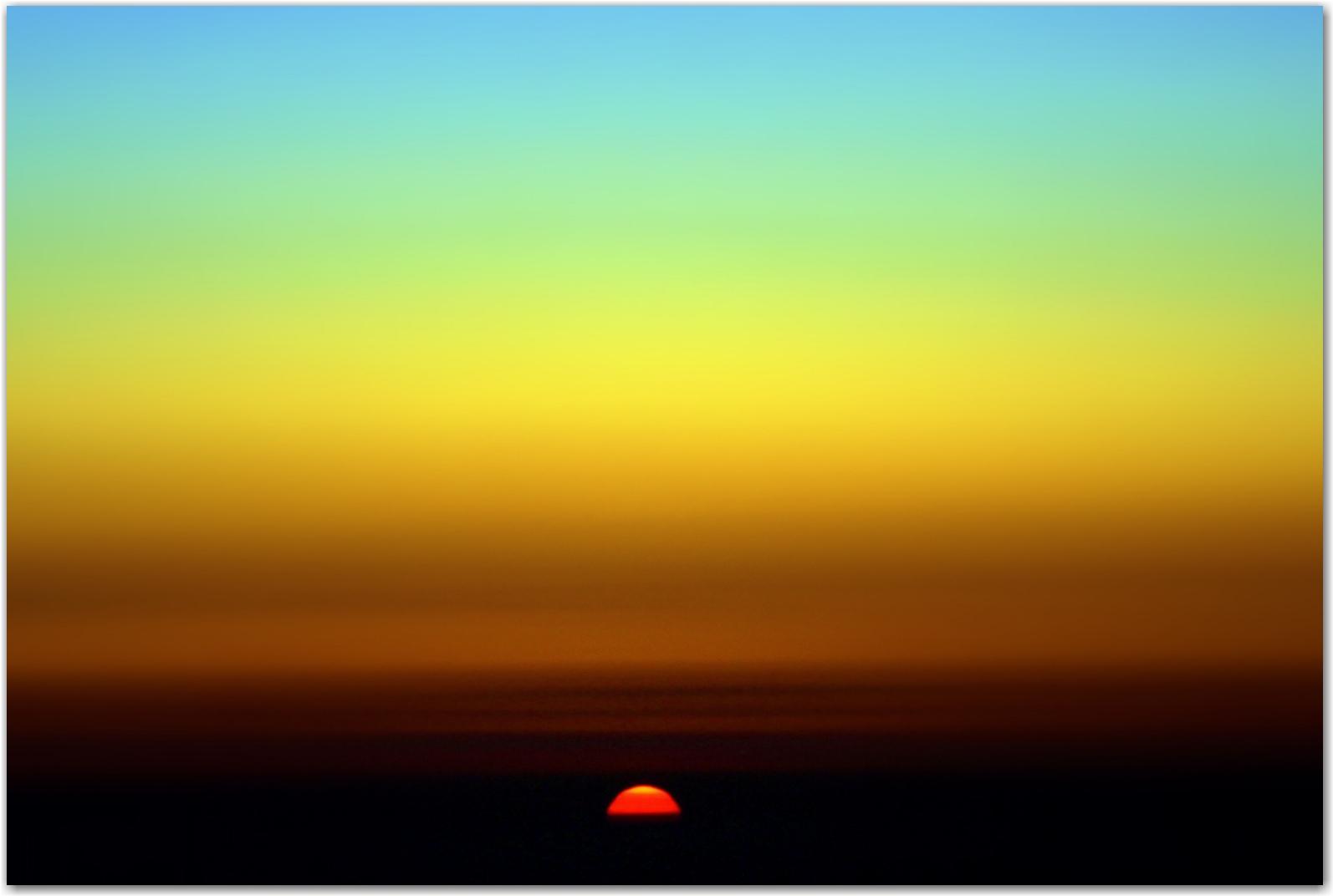 sunrise on mount fuji