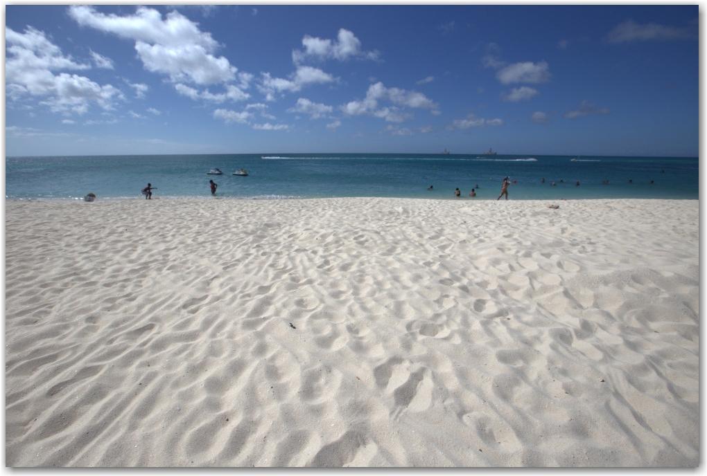 beach aruba caribbean