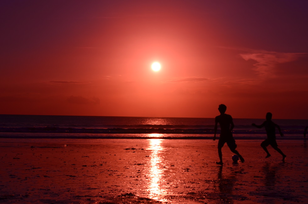 Sunday Snapshot: Sunset on Kuta Beach