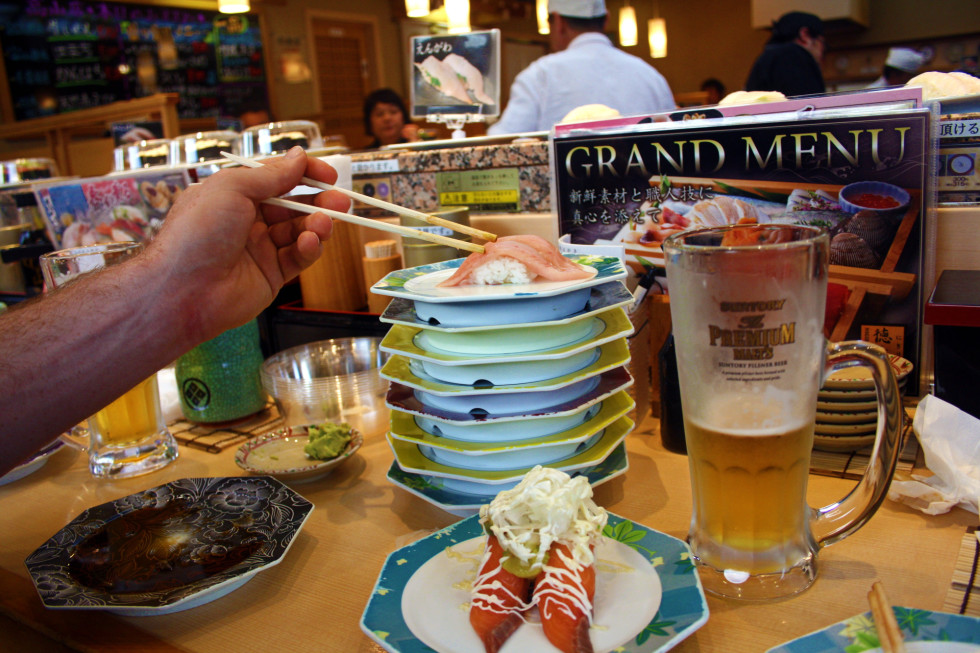 How to Eat Conveyor Belt Sushi